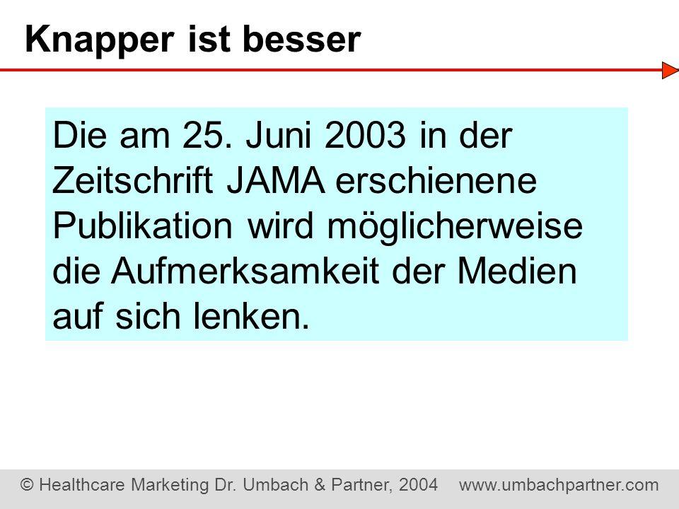 Zeitschrift JAMA erschienene Publikation wird möglicherweise