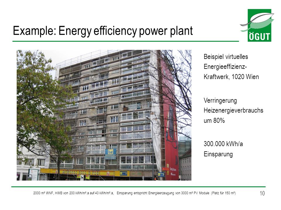 Example: Energy efficiency power plant