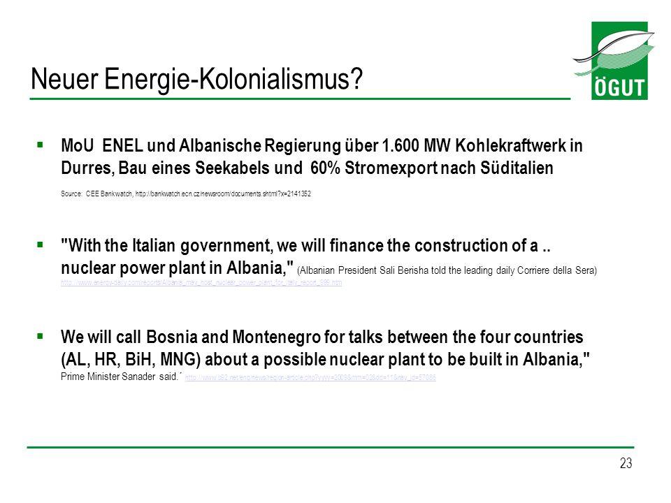 Neuer Energie-Kolonialismus