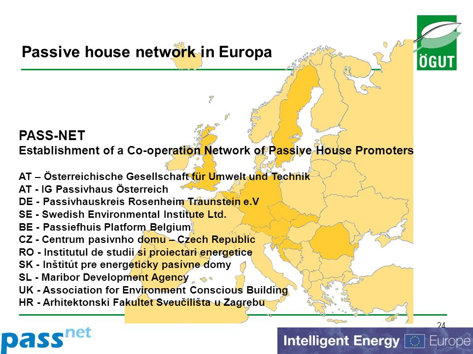 Passive house network in Europa