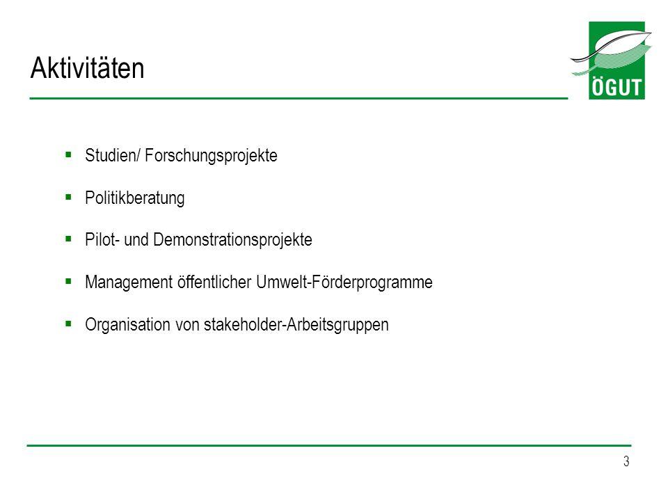 Aktivitäten Studien/ Forschungsprojekte Politikberatung