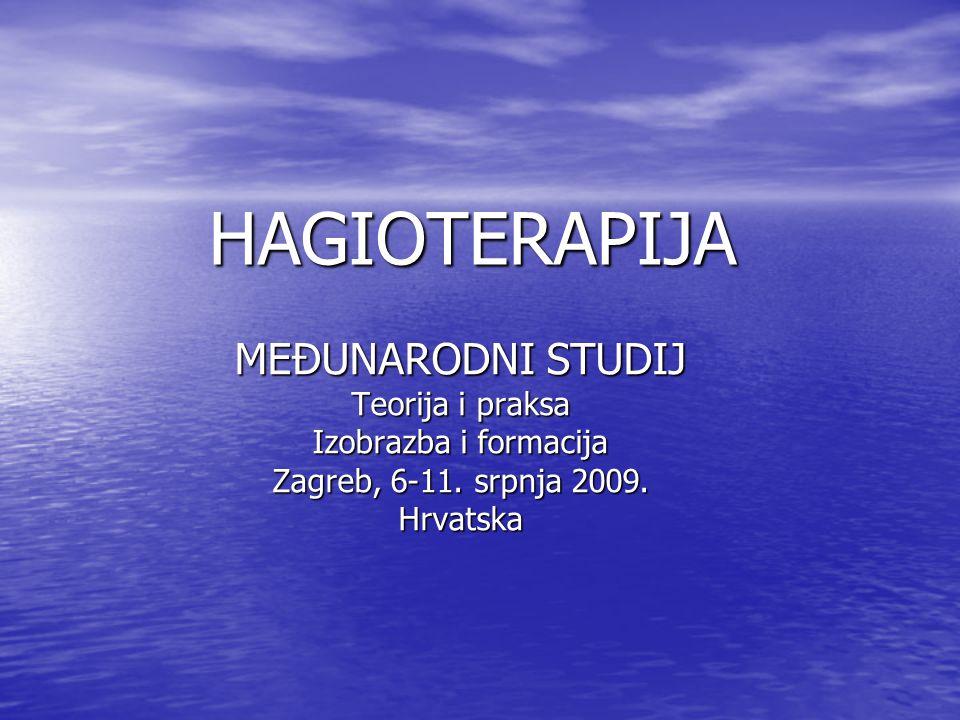 HAGIOTERAPIJA MEĐUNARODNI STUDIJ Teorija i praksa