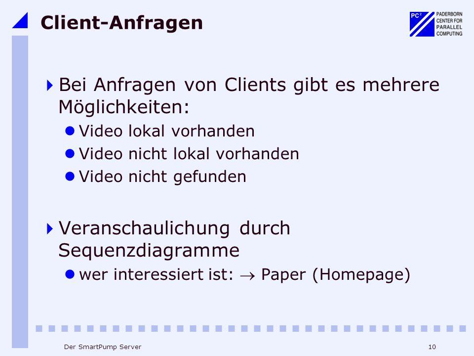 Bei Anfragen von Clients gibt es mehrere Möglichkeiten: