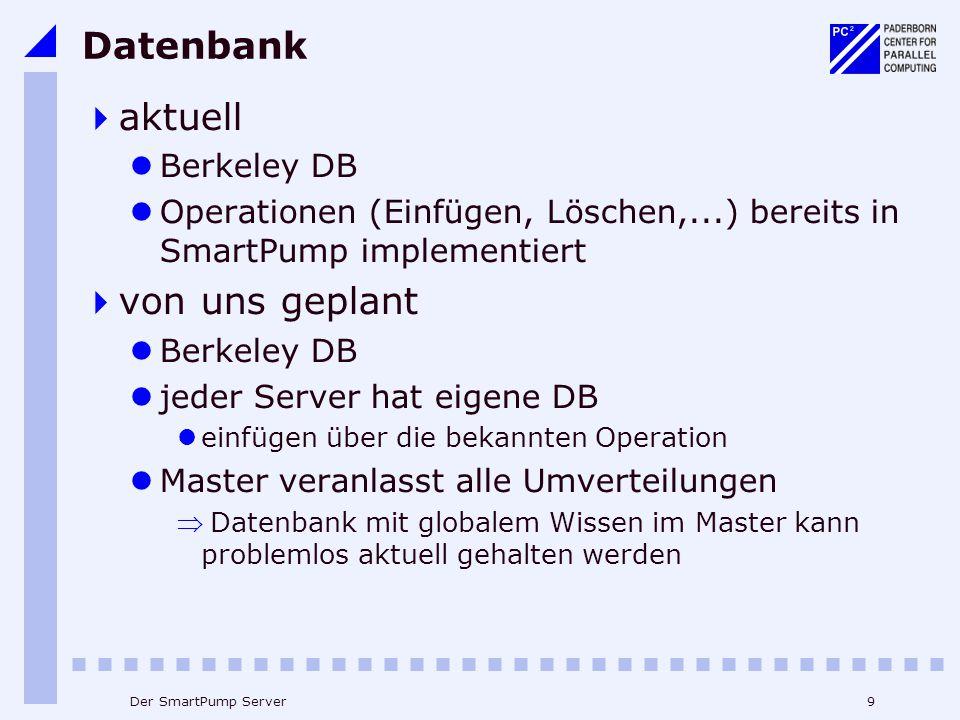 Datenbank aktuell von uns geplant Berkeley DB
