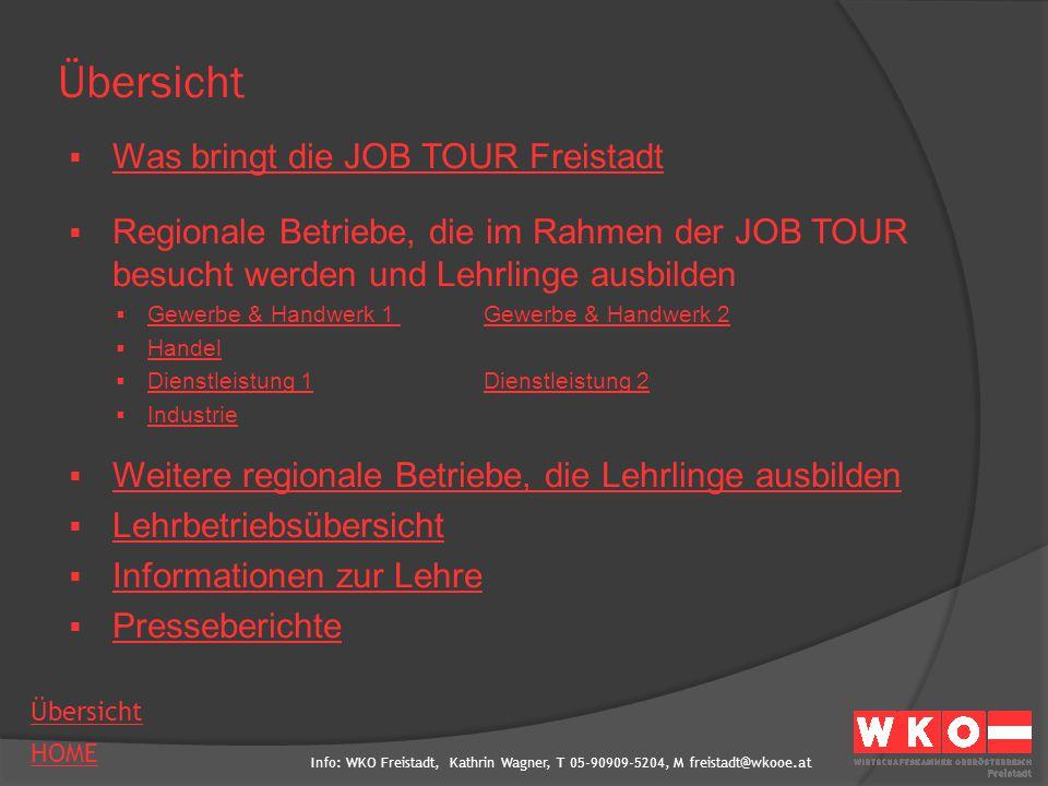 Übersicht Was bringt die JOB TOUR Freistadt