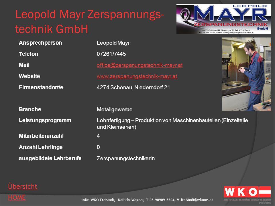 Leopold Mayr Zerspannungs- technik GmbH