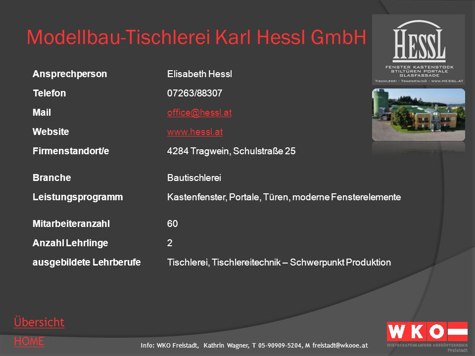 Modellbau-Tischlerei Karl Hessl GmbH