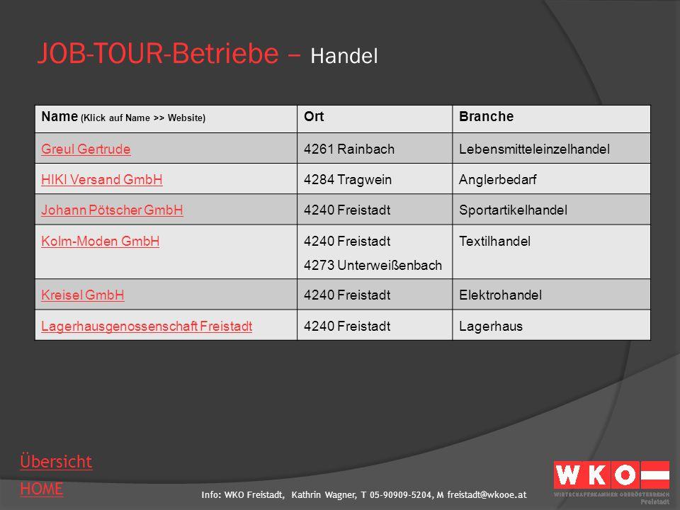 JOB-TOUR-Betriebe – Handel