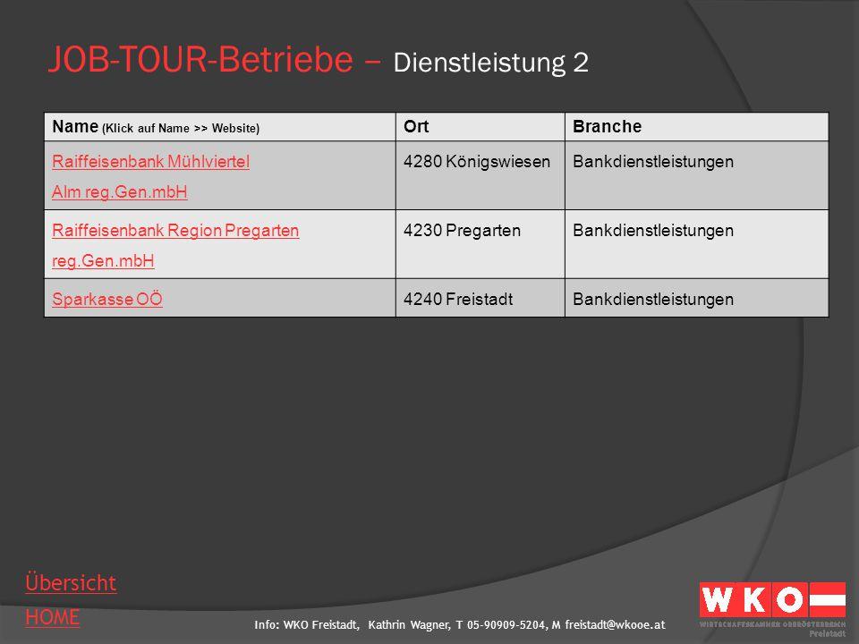 JOB-TOUR-Betriebe – Dienstleistung 2