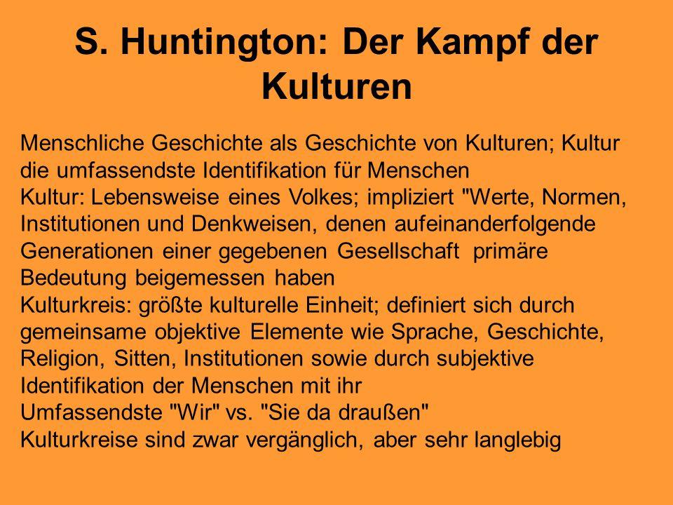 S. Huntington: Der Kampf der Kulturen