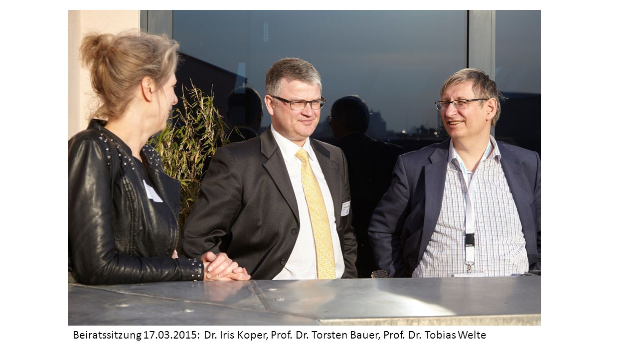 Beiratssitzung 17. 03. 2015: Dr. Iris Koper, Prof. Dr