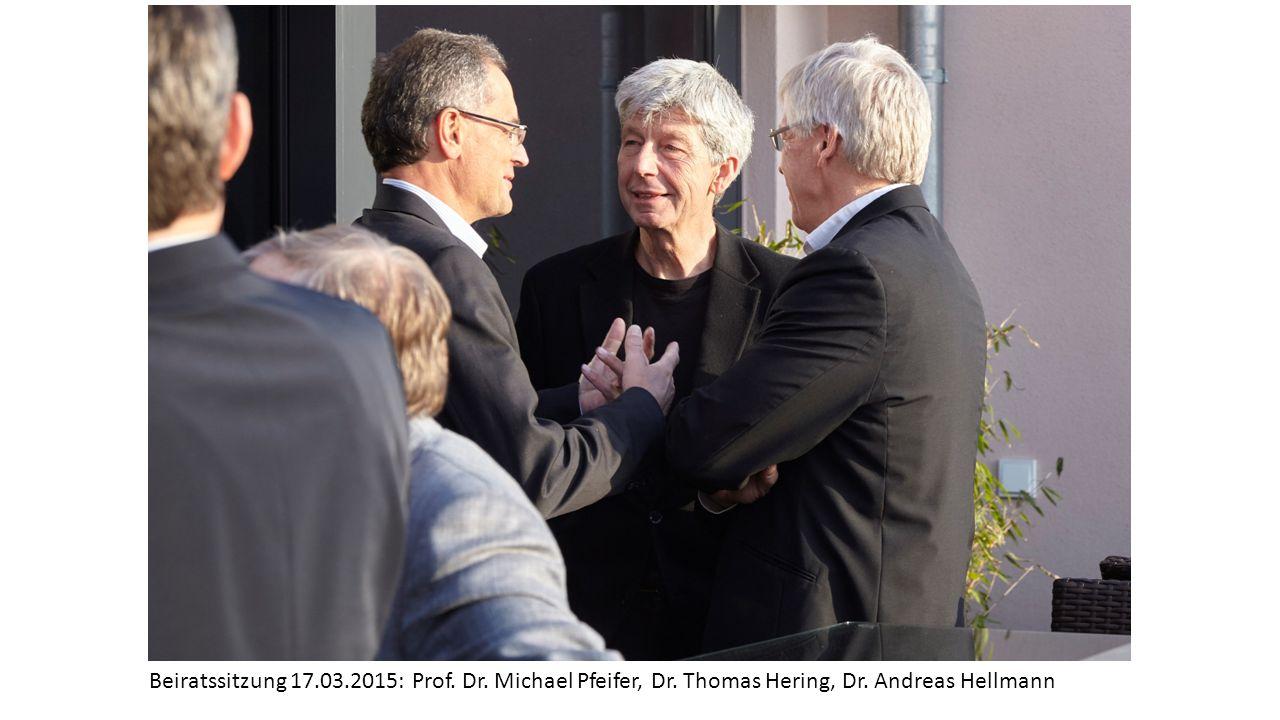 Beiratssitzung 17. 03. 2015: Prof. Dr. Michael Pfeifer, Dr