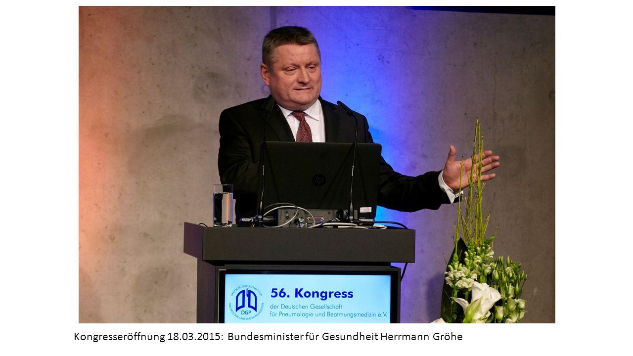 Kongresseröffnung 18.03.2015: Bundesminister für Gesundheit Herrmann Gröhe