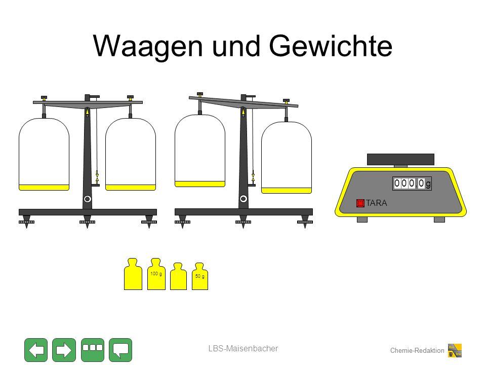 Waagen und Gewichte , g TARA 100 g 50 g LBS-Maisenbacher