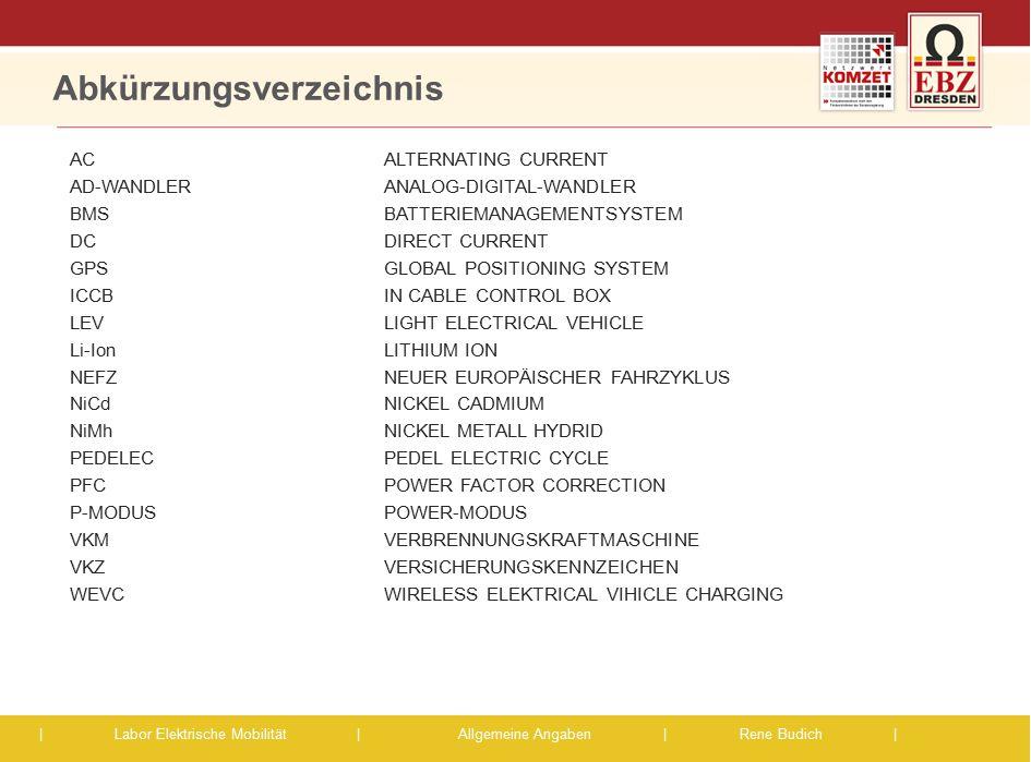 Abkürzungsverzeichnis