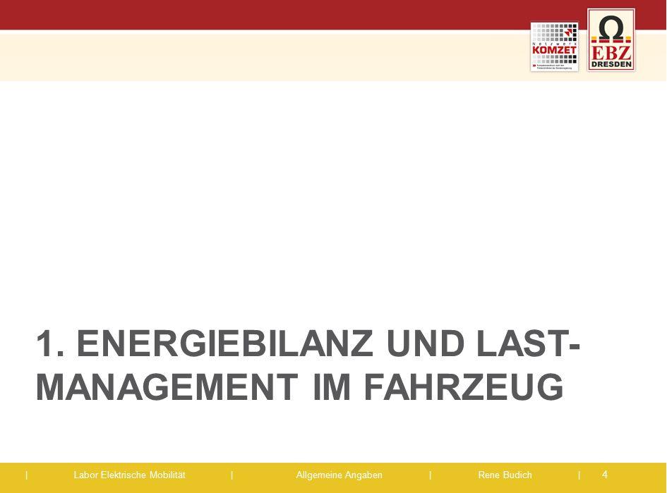 1. EnergieBILANZ und Last-management im Fahrzeug