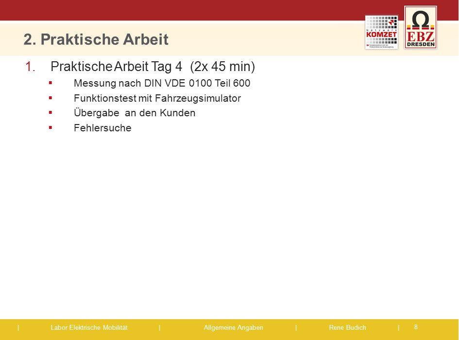 2. Praktische Arbeit Praktische Arbeit Tag 4 (2x 45 min)