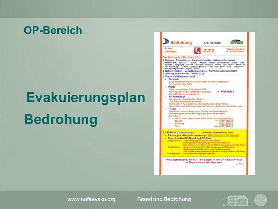 Evakuierungsplan Bedrohung OP-Bereich www.nofaevaku.org
