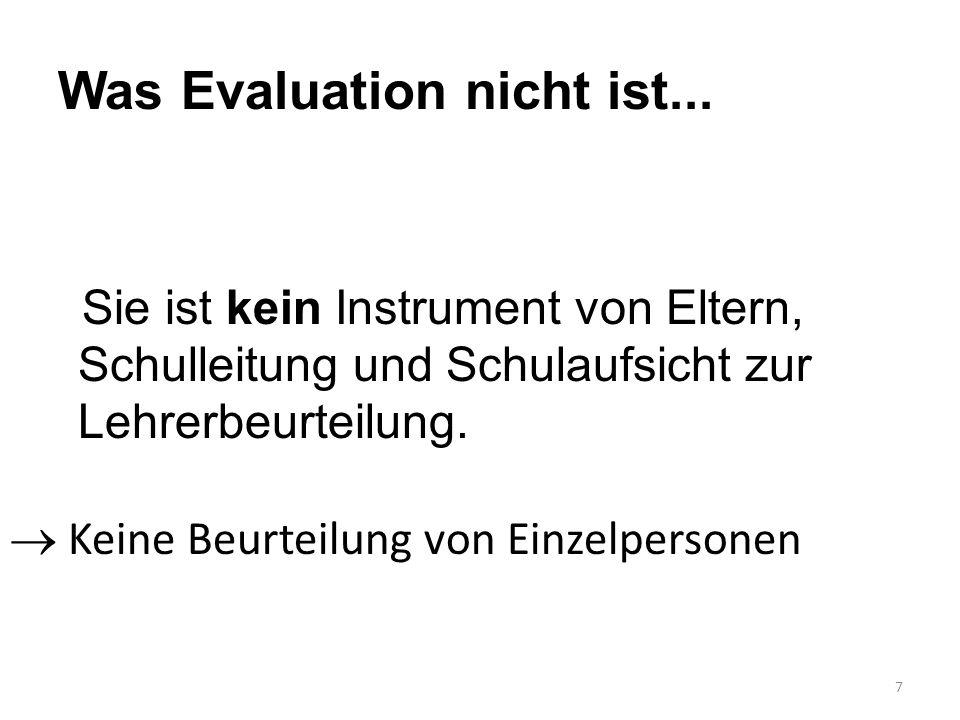 Was Evaluation nicht ist...