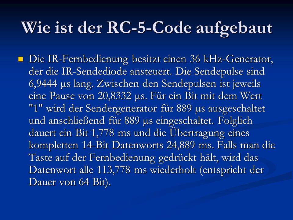 Wie ist der RC-5-Code aufgebaut