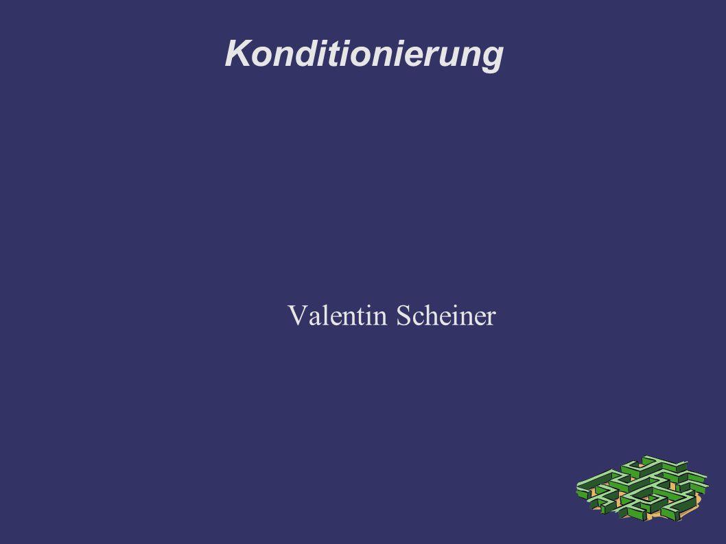 Konditionierung Valentin Scheiner
