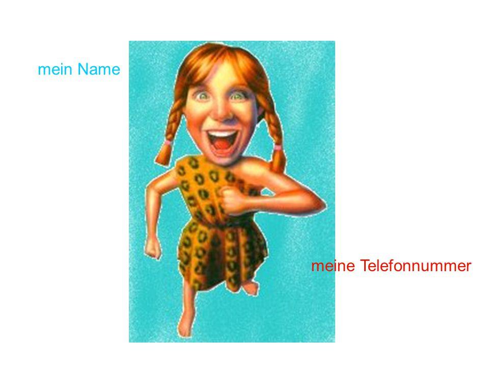mein Name meine Telefonnummer