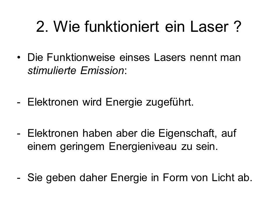2. Wie funktioniert ein Laser