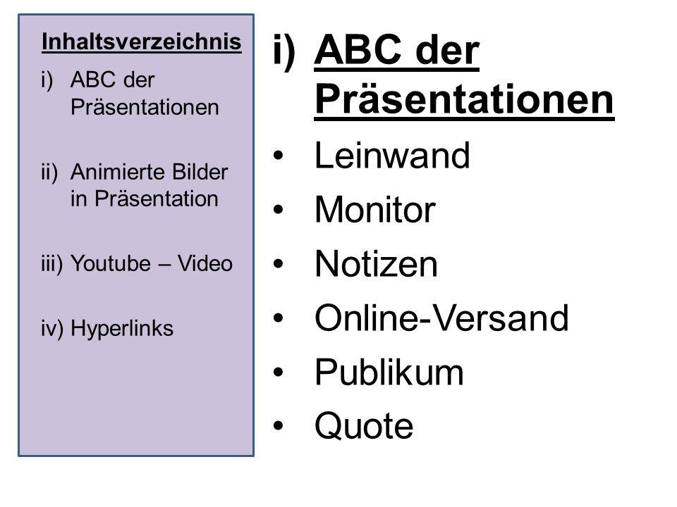 ABC der Präsentationen