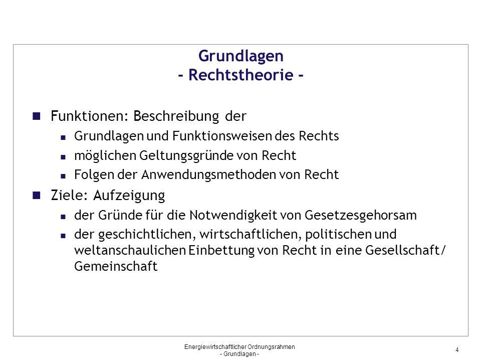 Grundlagen - Rechtstheorie -