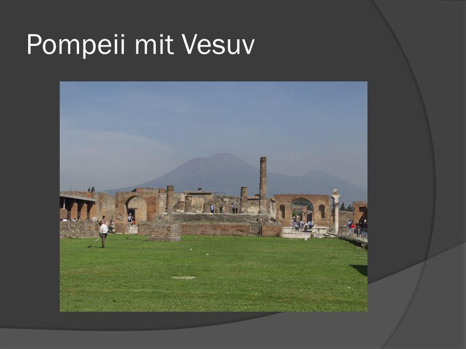 Pompeii mit Vesuv