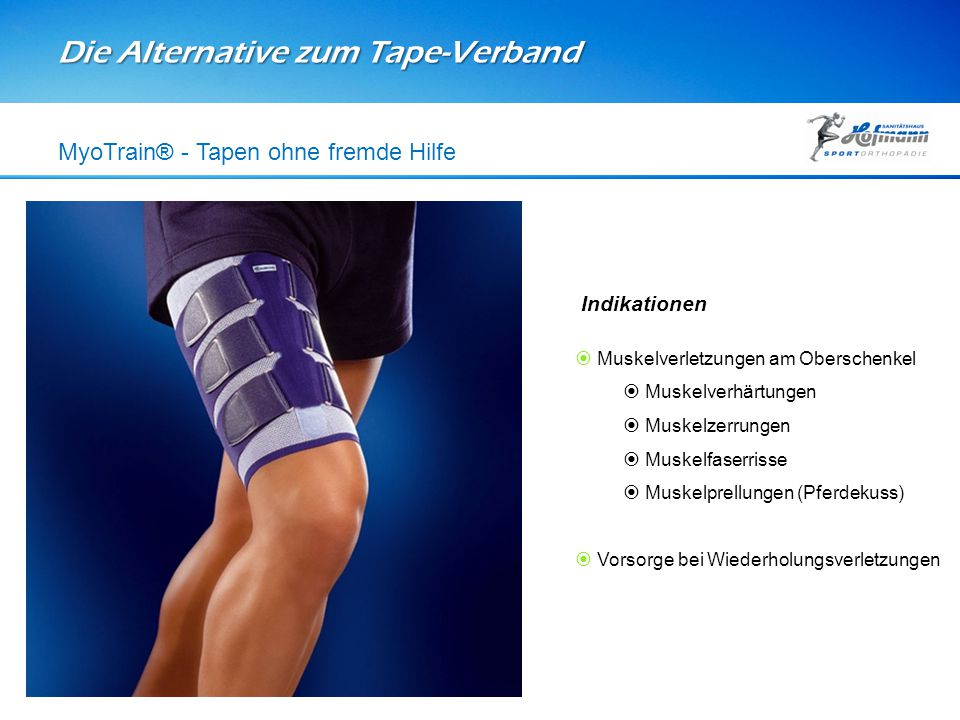 Die Alternative zum Tape-Verband