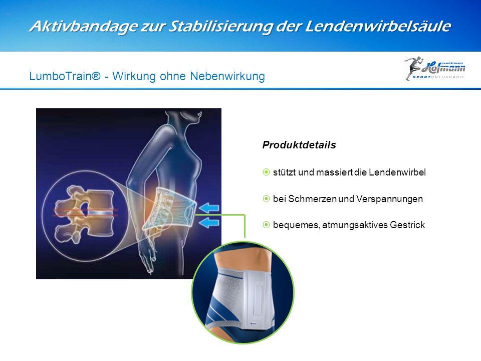 Aktivbandage zur Stabilisierung der Lendenwirbelsäule