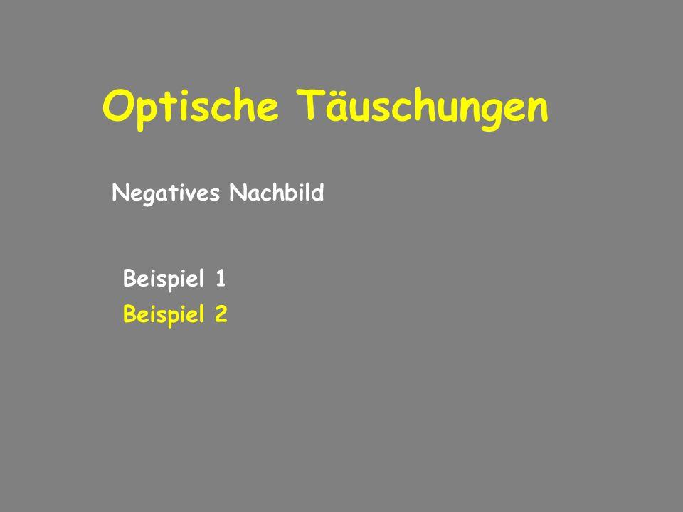 Optische Täuschungen Negatives Nachbild Beispiel 1 Beispiel 2