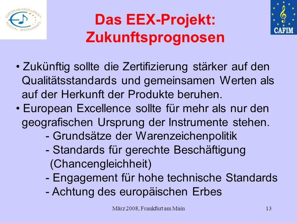 Das EEX-Projekt: Zukunftsprognosen