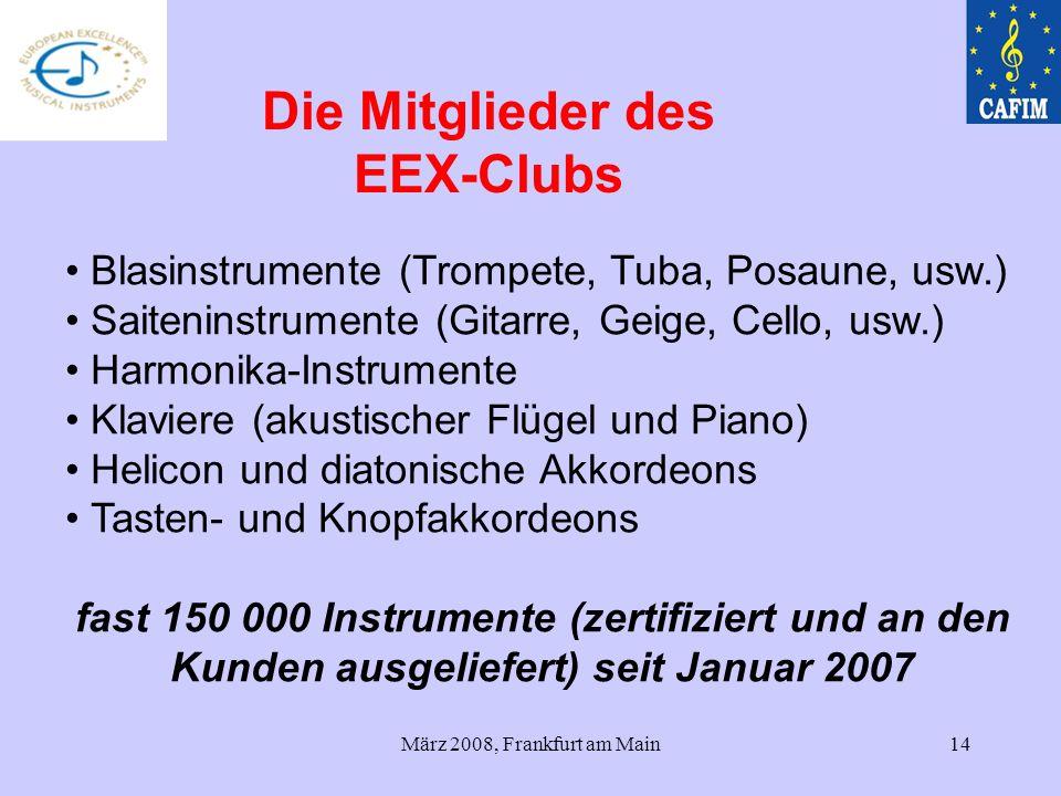 Die Mitglieder des EEX-Clubs