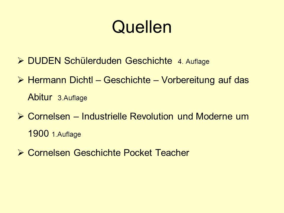 Quellen DUDEN Schülerduden Geschichte 4. Auflage