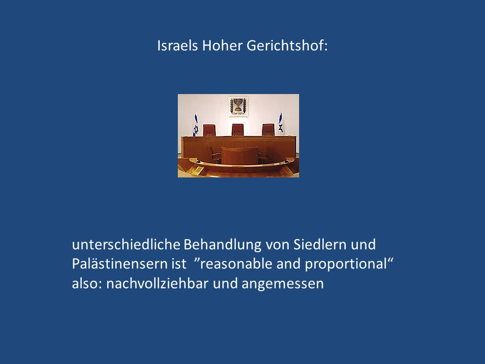 Israels Hoher Gerichtshof: