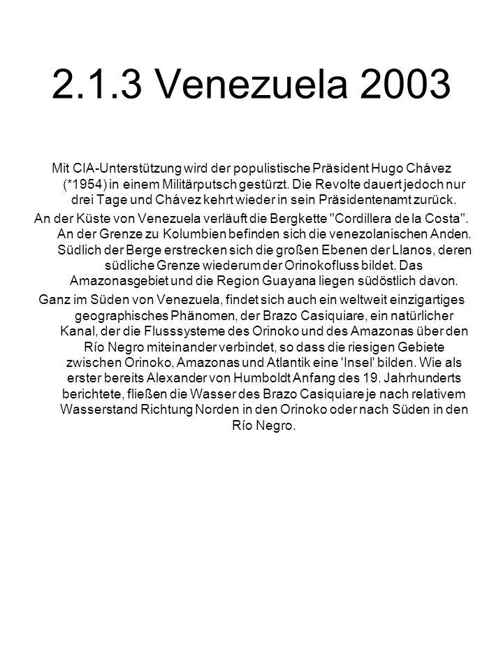2.1.3 Venezuela 2003
