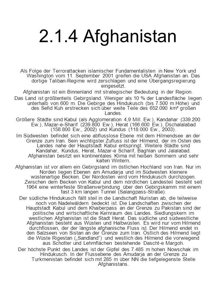 2.1.4 Afghanistan