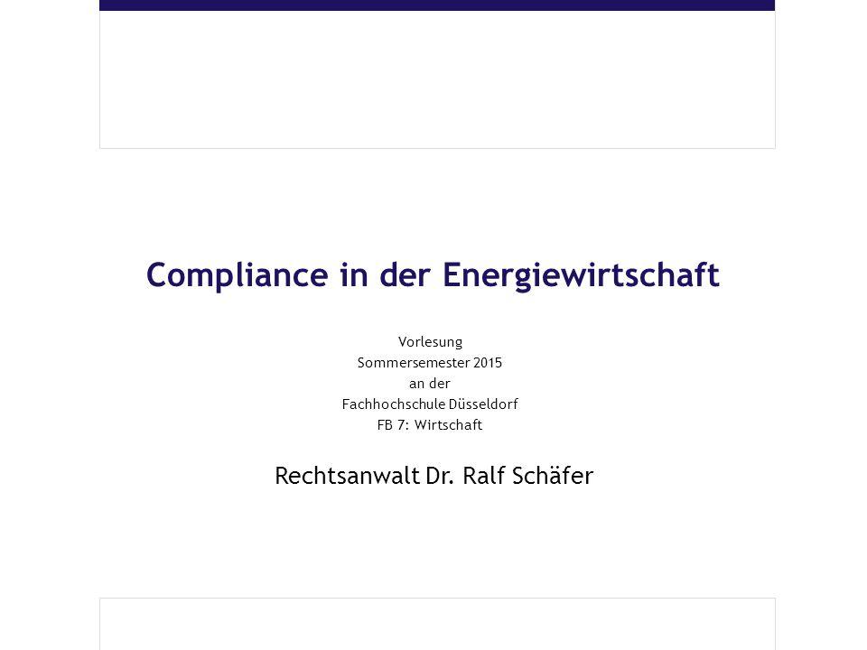Compliance in der Energiewirtschaft