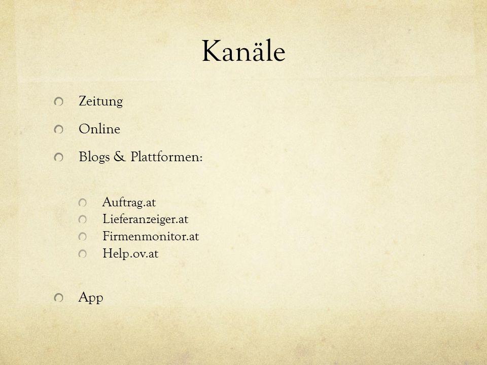 Kanäle Zeitung Online Blogs & Plattformen: App Auftrag.at