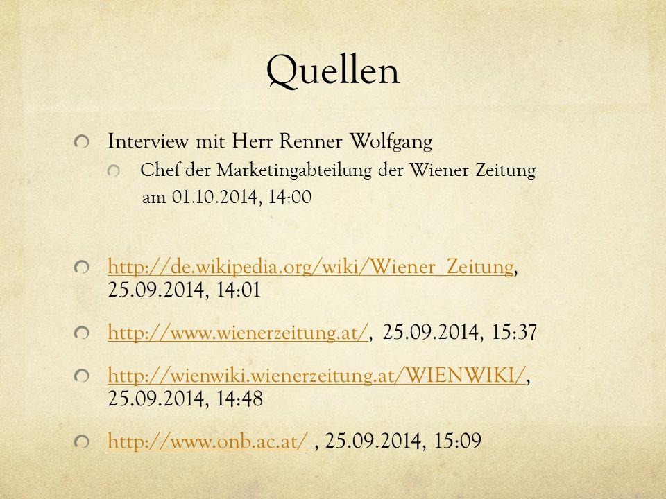 Quellen Interview mit Herr Renner Wolfgang