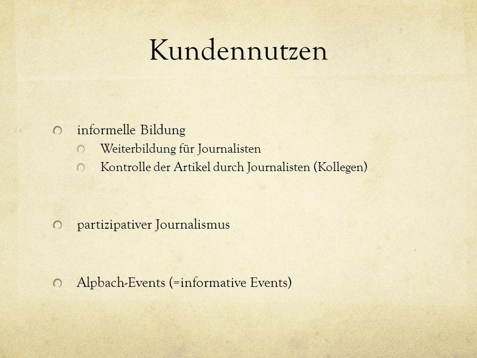 Kundennutzen informelle Bildung partizipativer Journalismus