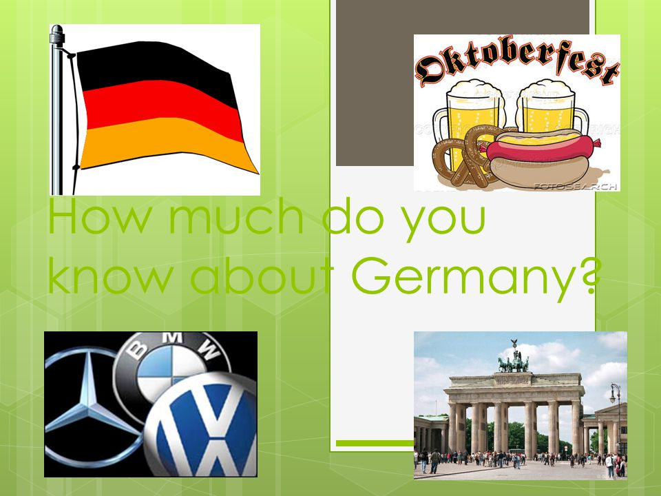 How much do you know about Germany