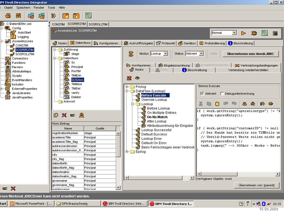 Phase 3 DFN-Nutzergruppe Hochschulverwaltung 10.05.2005