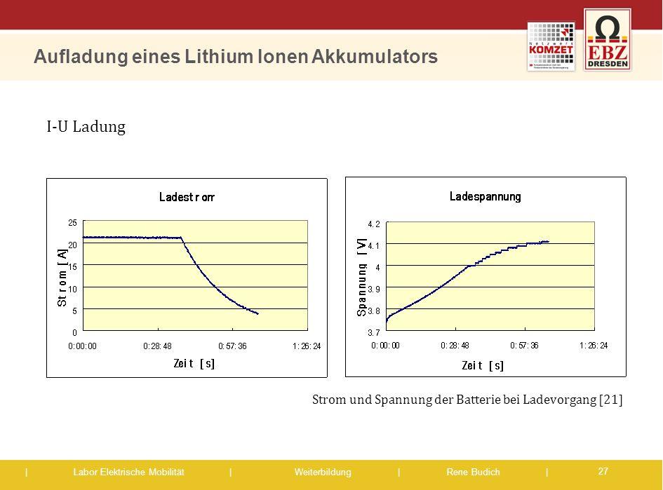 Aufladung eines Lithium Ionen Akkumulators