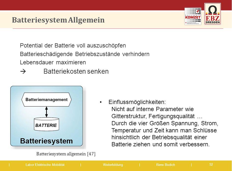 Batteriesystem Allgemein