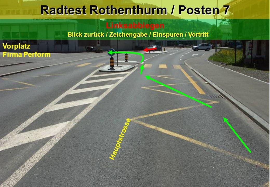 Radtest Rothenthurm / Posten 7