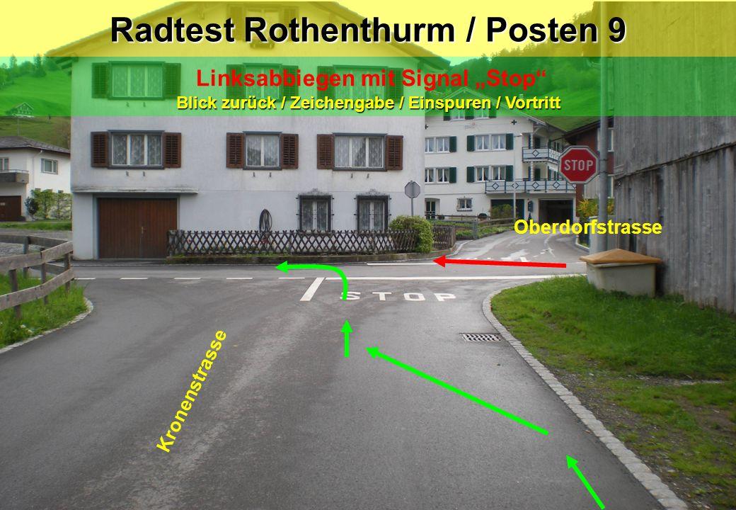 Radtest Rothenthurm / Posten 9