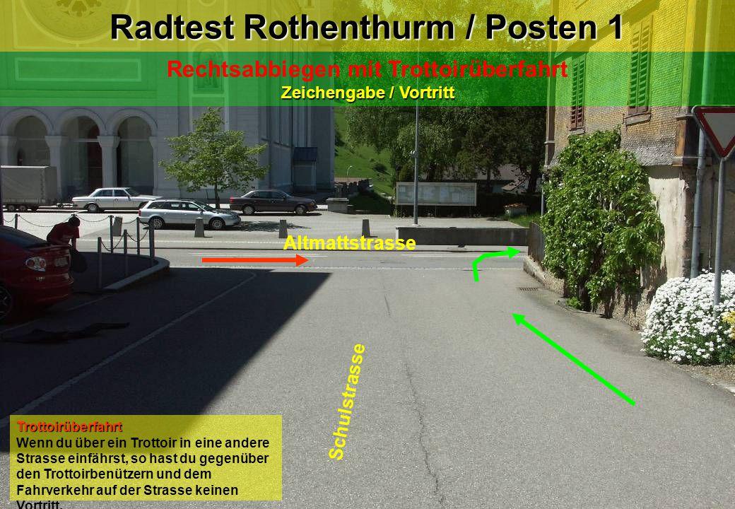 Radtest Rothenthurm / Posten 1